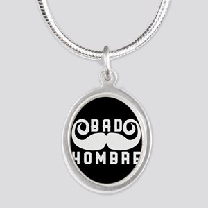 Bad Hombre Silver Oval Necklace
