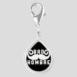 Bad Hombre Silver Teardrop Charm