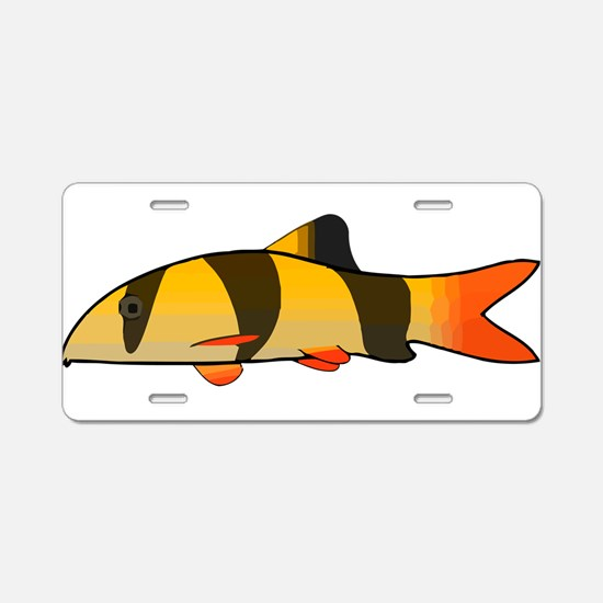 Clown Loach Aluminum License Plate