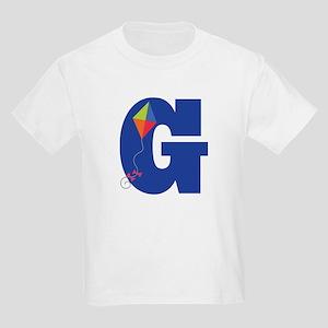 Letter G Kite Monogram Initial G Kids Light T-Shir