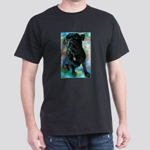 Pug Art Dark T-Shirt