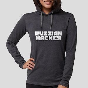 Russian Hacker Womens Hooded Shirt