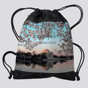 Washington_11x9_ThomasJeffersonMemo Drawstring Bag