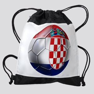 Croatian Football Drawstring Bag