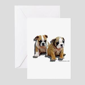 Bulldog Puppy Greeting Cards (Pk of 10)