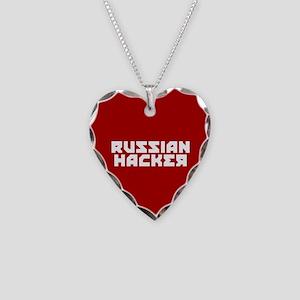 Russian Hacker Necklace Heart Charm