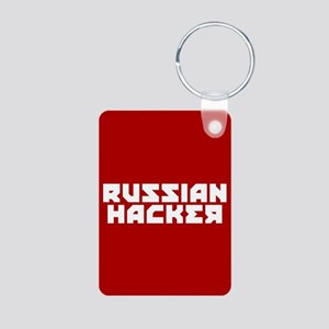 Russian Hacker Aluminum Photo Keychain