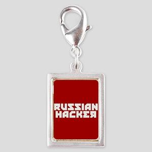 Russian Hacker Silver Portrait Charm