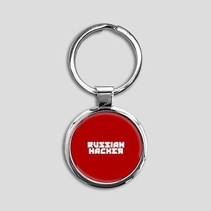 Russian Hacker Round Keychain