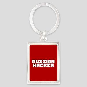 Russian Hacker Portrait Keychain