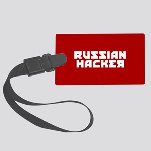 Russian Hacker Large Luggage Tag