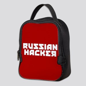 Russian Hacker Neoprene Lunch Bag