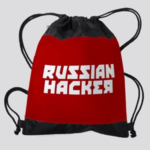 Russian Hacker Drawstring Bag