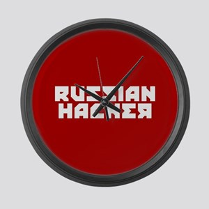Russian Hacker Large Wall Clock