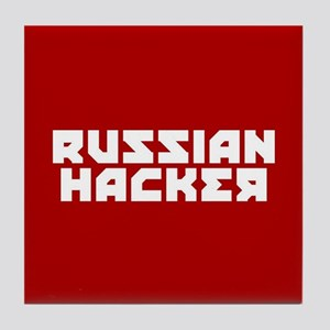 Russian Hacker Tile Coaster
