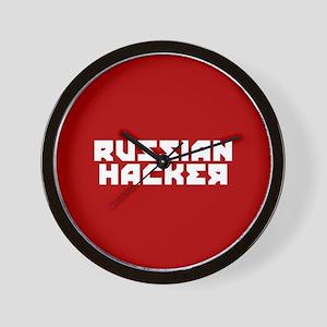 Russian Hacker Wall Clock
