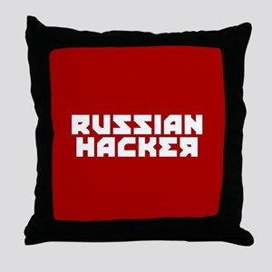 Russian Hacker Throw Pillow