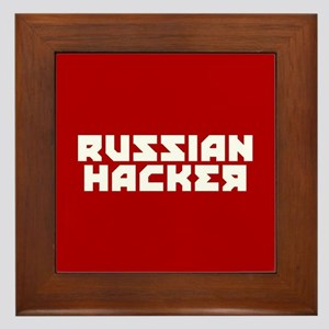 Russian Hacker Framed Tile
