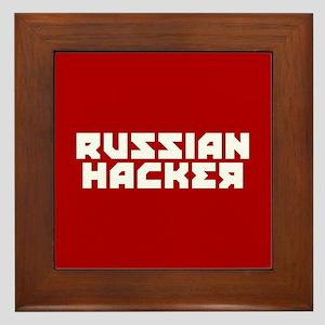 Russian Hacker Framed Tile
