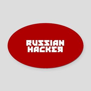 Russian Hacker Oval Car Magnet