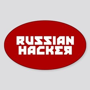 Russian Hacker Sticker (Oval)