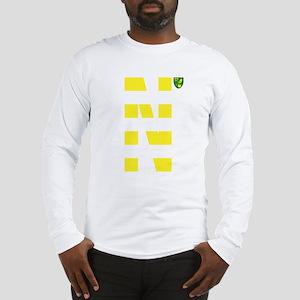 Norwich City Stripes Yellow Long Sleeve T-Shirt