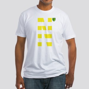 Norwich City Stripes Yellow Fitted T-Shirt