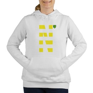 Norwich City Stripes Yel Women's Hooded Sweatshirt