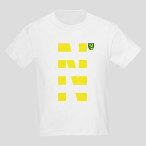 Norwich City Stripes Yellow Kids Light T-Shirt