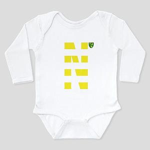 Norwich City Stripes Y Long Sleeve Infant Bodysuit
