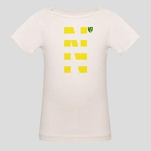 Norwich City Stripes Yellow Organic Baby T-Shirt