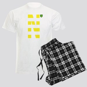 Norwich City Stripes Yellow Men's Light Pajamas