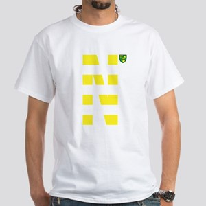Norwich City Stripes Yellow White T-Shirt