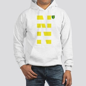 Norwich City Stripes Yellow Hooded Sweatshirt