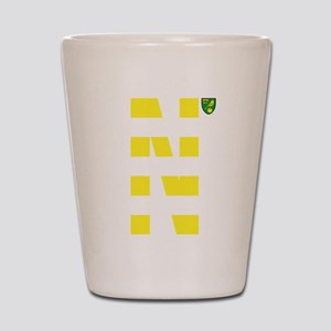 Norwich City Stripes Yellow Shot Glass
