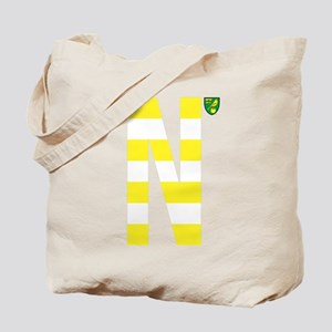 Norwich City Stripes Yellow Tote Bag