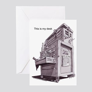 this is my desk Greeting Cards (Pk of 10)