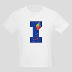Letter I Kite Monogram Initial I Kids Light T-Shir