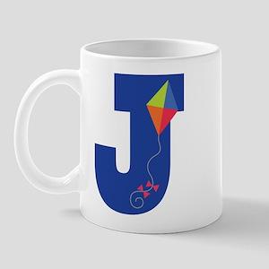Letter J Kite Monogram Initial J Mug