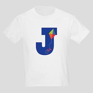 Letter J Kite Monogram Initial J Kids Light T-Shir