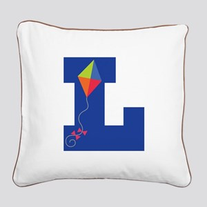 Letter L Kite Monogram Initial L Square Canvas Pil