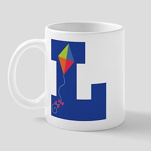 Letter L Kite Monogram Initial L Mug