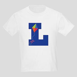 Letter L Kite Monogram Initial L Kids Light T-Shir