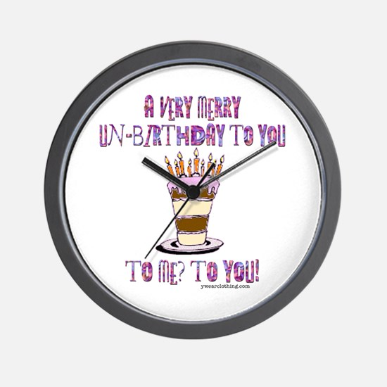 Un-Birthday Wall Clock