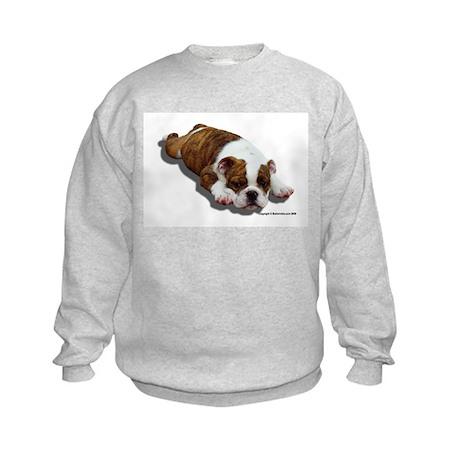 Bulldog Puppy 2 Kids Sweatshirt