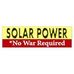 Solar Power *No War Required Bumper Sticker