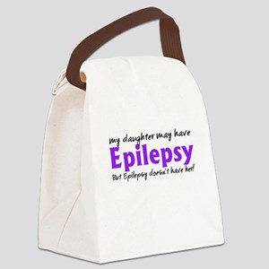 My daughter may have epilepsy Canvas Lunch Bag