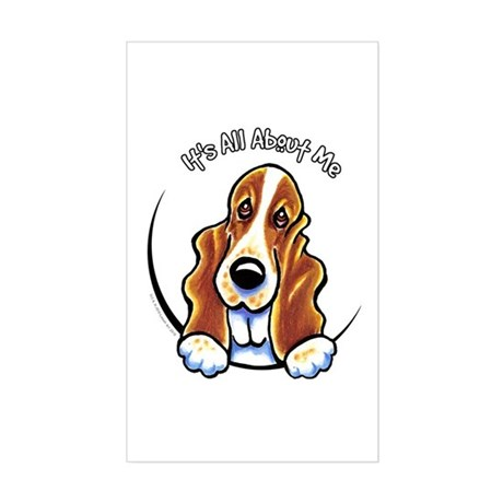 Basset Hound IAAM Sticker (Rectangle)