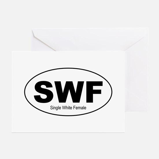 SWF - Single White Female Greeting Cards (Package