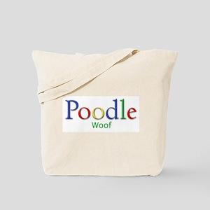 Poodle (Woof)  Tote Bag